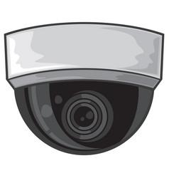 ceiling surveillance camera vector image vector image