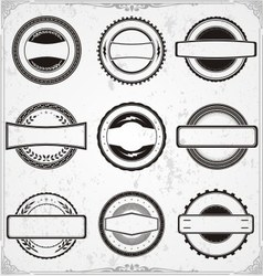 Classic Badge Templates vector image vector image