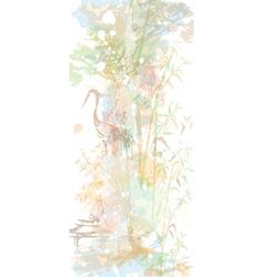 in oriental watercolor style vector image