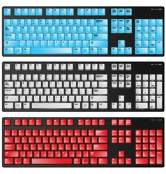 keyboard red blue and white vector image