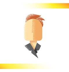 Retro icon Faceless silhouette male character with vector image