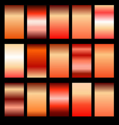 set red gradients vector image vector image