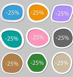 25 percent discount sign icon Sale symbol Special vector image