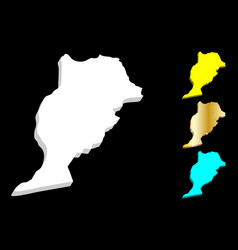 3d map of morocco vector