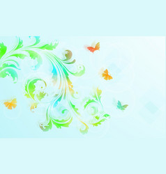 abstract floral background with colorful flowers vector image