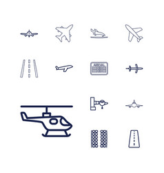 Airline icons vector
