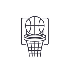 basketball play line icon concept basketball play vector image