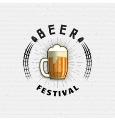 Beer festival badges logos and labels for any use vector image