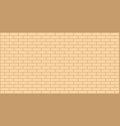 Beige yellow brick wall background vector