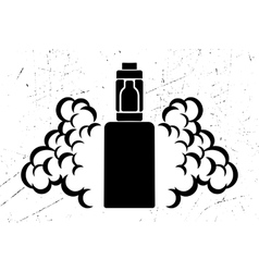 black emblem of the electronic cigarette vector image