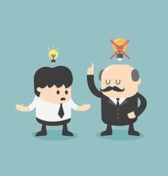 Boss dislike ideas vector