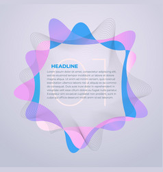bright abstract business cover template design vector image