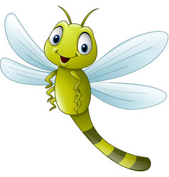 Cartoon dragonfly vector