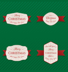 Christmas banners labels or tags collection vector