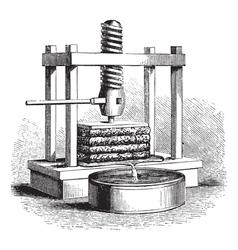 Cider Press vintage engraving vector