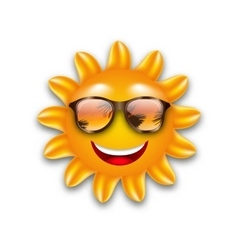 concept funny sun with sunglasses isolated vector image