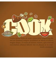 Cook banner vector
