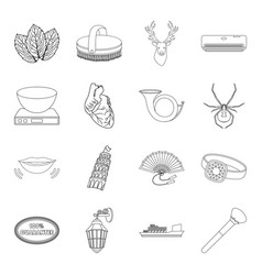 cooking medicine travel and other web icon in vector image