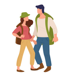 couple traveling together man and woman vector image
