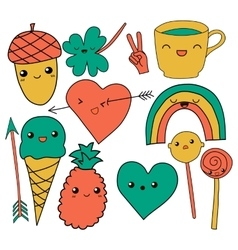 Cute hand drawn doodle collection vector