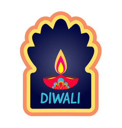 diwali simple holiday web banner isolated vector image