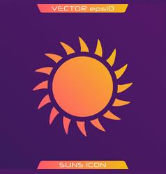 flat sun icon vector image