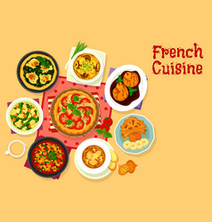 french cuisine tasty dinner icon for food design vector image