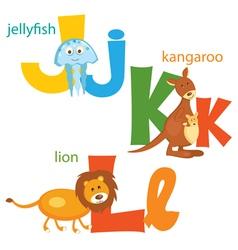 Funny alphabet 3 vector image