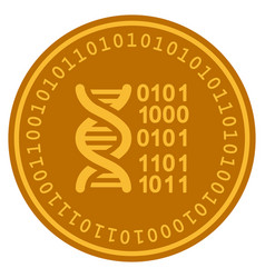 genome digital coin vector image