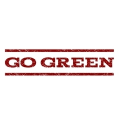 Go Green Watermark Stamp vector