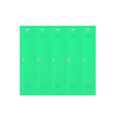 Green lockers section vector