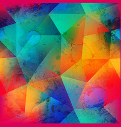 grunge triangle seamless pattern with spot effect vector image