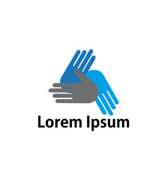 hand care logo template icon vector image