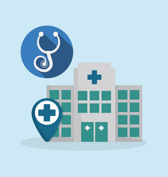 hospital medical service icon vector image