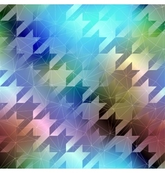 Houndstooth pattern on abstract blurred background vector image