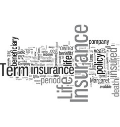 Is term insurance right for you vector