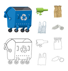 Isolated object of dump and sort icon set of dump vector