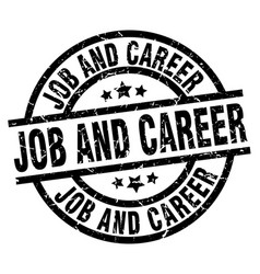 Job and career round grunge black stamp vector