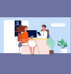 Job interview female seekers hr manager and vector