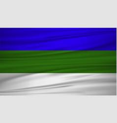 Komi flag flag of komi blowig in the wind eps 10 vector