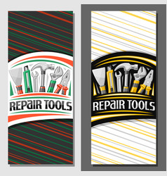 layouts for repair tools vector image