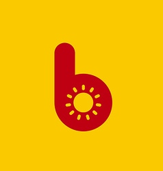 Letter B sun logo icon design template elements vector