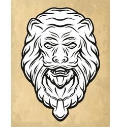 Lion head door knocker vector image