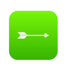 long arrow icon digital green vector image