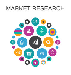 Market research infographic circle concept smart vector