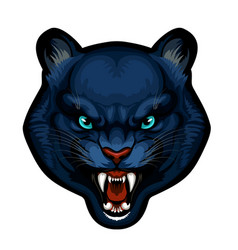 Mascot head panther vector