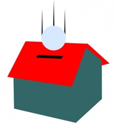 Money house vector