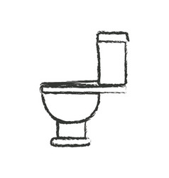 monochrome blurred silhouette with toilet icon vector image