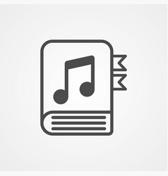 music book icon sign symbol vector image