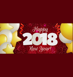 new year 2018 banner vector image